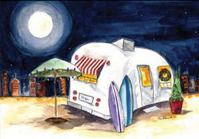Sold. There's No Place Like HomeOriginal Watercolor Sold.Cards and prints available.