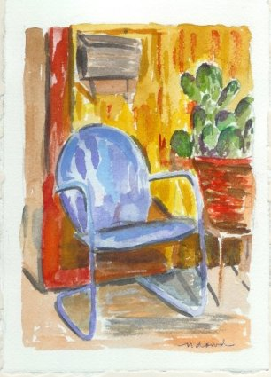 Verdant Drive Original Watercolor Gift