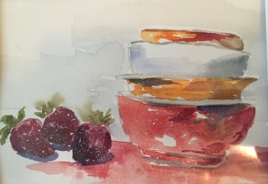 Fruit Bowls, Original Watercolor SOLD