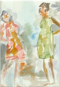 Girl Talk Original Watercolor Gift