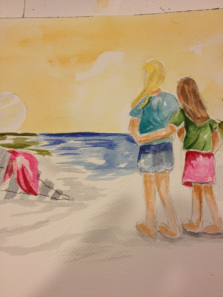 Remembering Daddy Original Watercolor for the Krog Family
