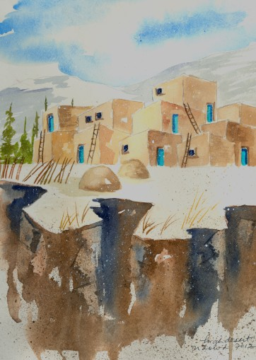 Arroyo Seco Gorge Original Watercolor FOR SALE