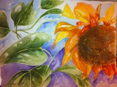 Good Day Sunshine Original Watercolor for Sale.