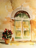 Winery in Tuscany Original Watercolor SOLD.