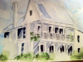 Dream Home Original Watercolor SOLD