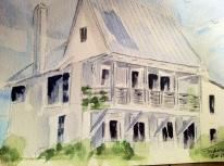 Dream Home Original Watercolor SOLD