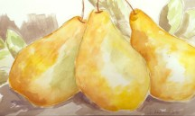 Pears Original Watercolor SOLD.