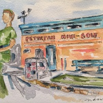 Peter Pan Mini-Golf opened in 1946 and is an Austin icon. Original, prints and cards available.